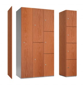 Timber fronted lockers